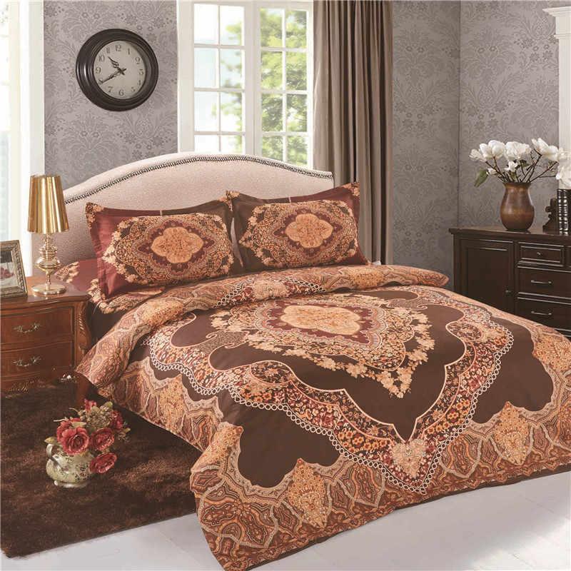 Thicken Sanded Cotton Bohemia Boho Moroccan Bedding Set 4pcs Soft Warm  Duvet/Quilt Cover Sets King Queen Size Bedclothes Bed Set