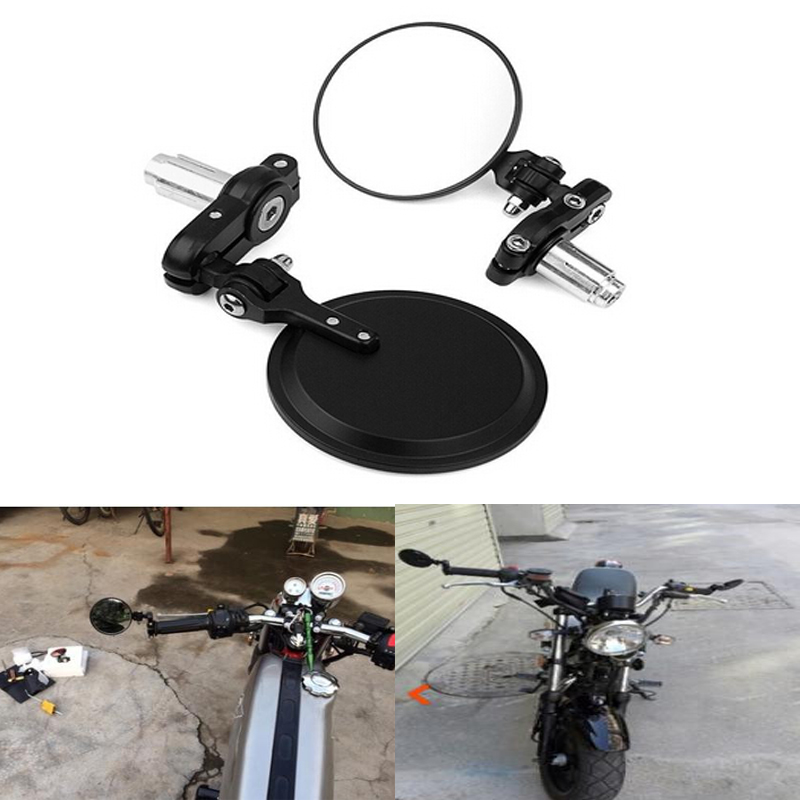 """COLORFUL CMOTORCYCLE  7//8/""""HANDLE BAR END MIRRORS FOR CAFE RACER BOBBER CLUBMAN"""