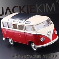 Hot 1950 VW T1 Bus Type 2 Classic Cars Van Car Model Metal Pull Back Sound