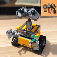 16003 Idea Robot WALL E compatible legoing 21303 modified electric remote control kit assembled blocks Bricks Technic car