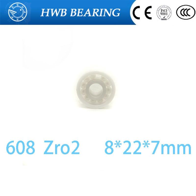 Free Shipping 608 ZrO2 11 zro2 balls   8x22x7mm  ZrO2 Full Ceramic Bearings Full Complement hand spinner 8*22*7 mm недорого