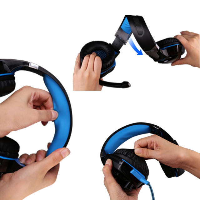 G9000 Gaming Headsets with Light Mic Stereo Earphones Deep Bass for PC, PS4 and X-BOX