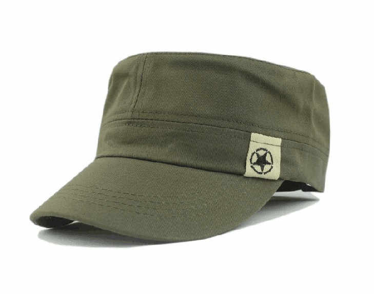 ירוק שטוח גג צבאי Caps לגברים נשים צוער סיירת בוש כובע שמש הגנה בייסבול שדה כובע טיפוס שטוח כובעים кепка