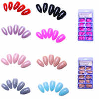 Fake Nails 100pcs StilettoDesigns Faux Ongles Full Cover False Nails Artificial Tips 8 Different Colors Optional Nails Salon