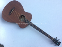 Free shipping 40 Electric Acoustic 4 strings Wood Bass guitar,20 Frets,Spruce top/Mahogany wood body,4 strings bass guitars