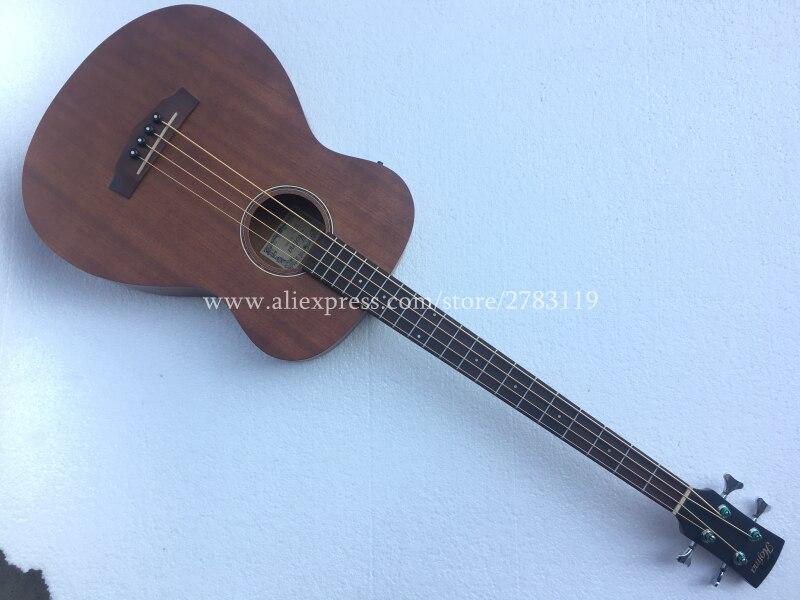 Livraison gratuite guitare basse électrique acoustique 4 cordes en bois 40