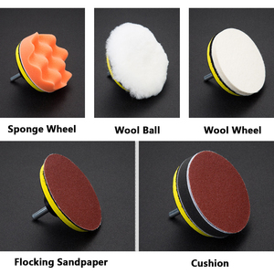 Image 5 - 125mm Polishing Disk With Sticky Adhesive Sandpaper Disc Chuck Angle Grinder Accessories Self adhesive Type Grinder Disc