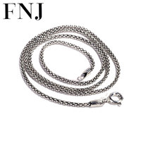 925 Sterling Silver Chain Necklace 40cm Choker For Women Necklaces 70cm Long Chains Thai S925 Solid