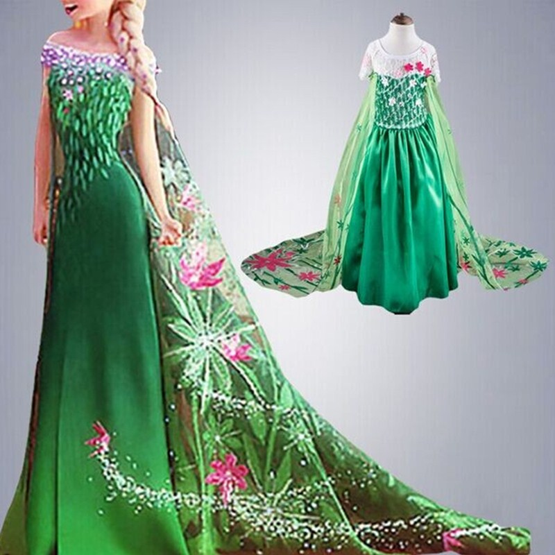 Teenage Princess Girl Elsa Dress Girls Party Wear Beauty And The Beast Prom Gown Children Kid Halloween Costume Girl Clothes girl clothing elsa cinderella cosplay princess carnival halloween costume girl party dress beauty beast christmas 4 8 10 years