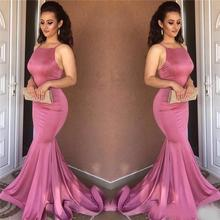 Sexy Mermaid Evening Dress 2018 High Quality simple Sleevele