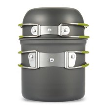 Outdoor Pot Camping Cook Field Aluminum Alloy Stove Set Cookware Pot Set Ultralight Picnic Outdoor Pot Camping Pot 1-2 People