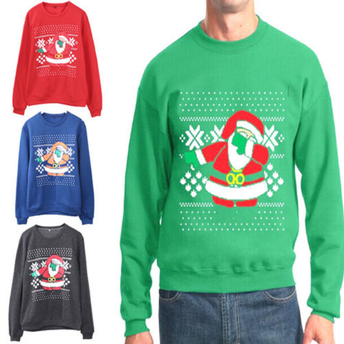 2018 Autumn Winter NEW Xmas Sweaters Ugly Christmas Sweater for Lovers Women Men
