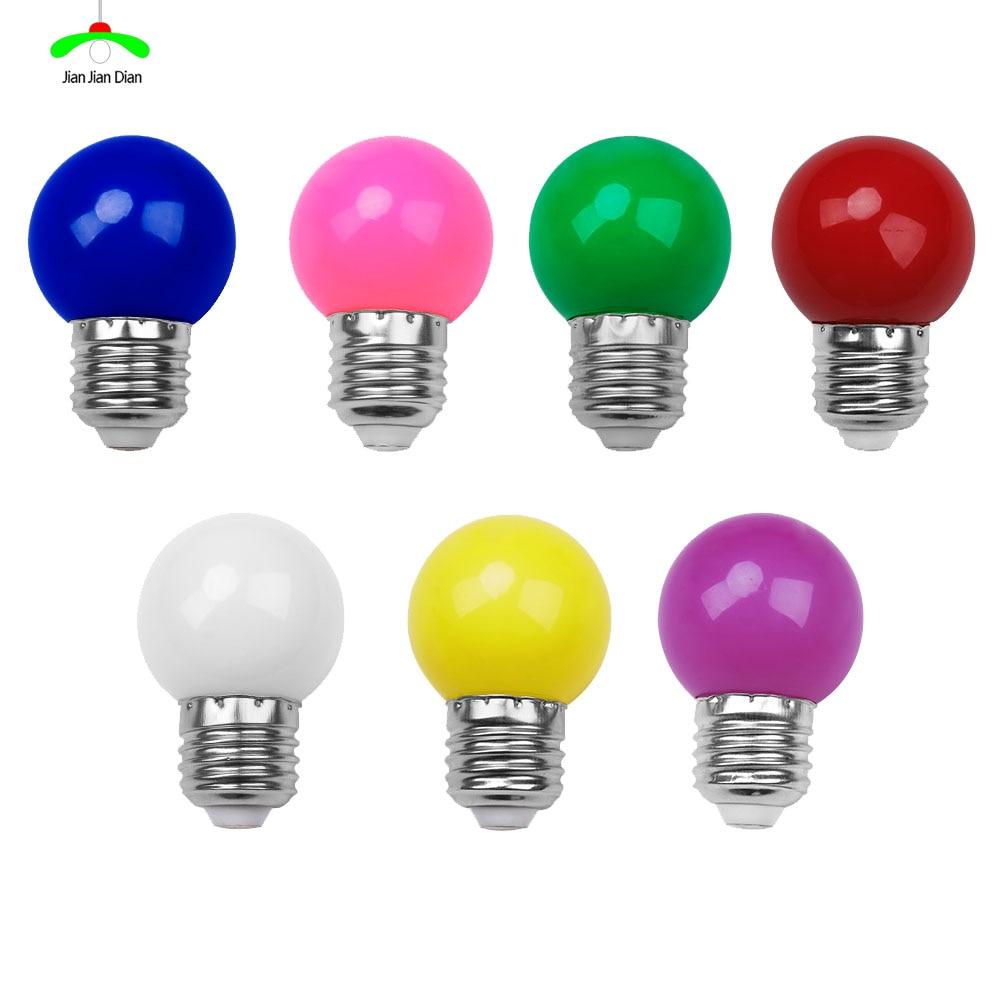 E27 Led Bulb Lamp Bomlillas Colorful Lampada Ampoule RGB Led Light SMD 2835 Flashlight 220V G45 Globe Bulbs Home Decor