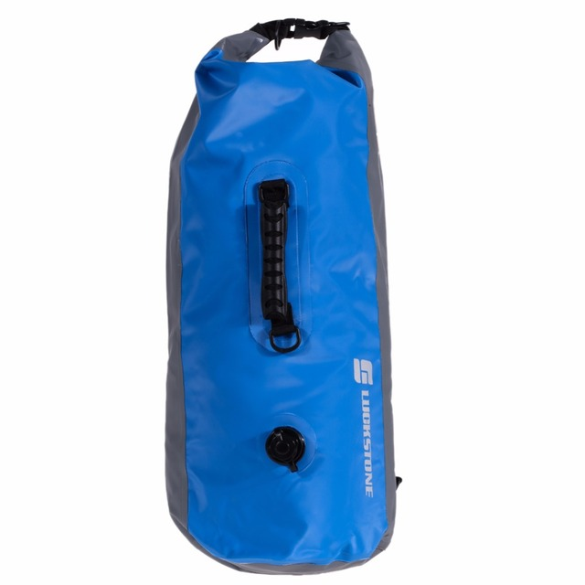 LUCKSTONE 60LWaterproof Floating Dry Bag Backpack Drift Canoeing Kayak  Camping Travel Storage Bags inflatable tactical Rucksack 3764af605753e