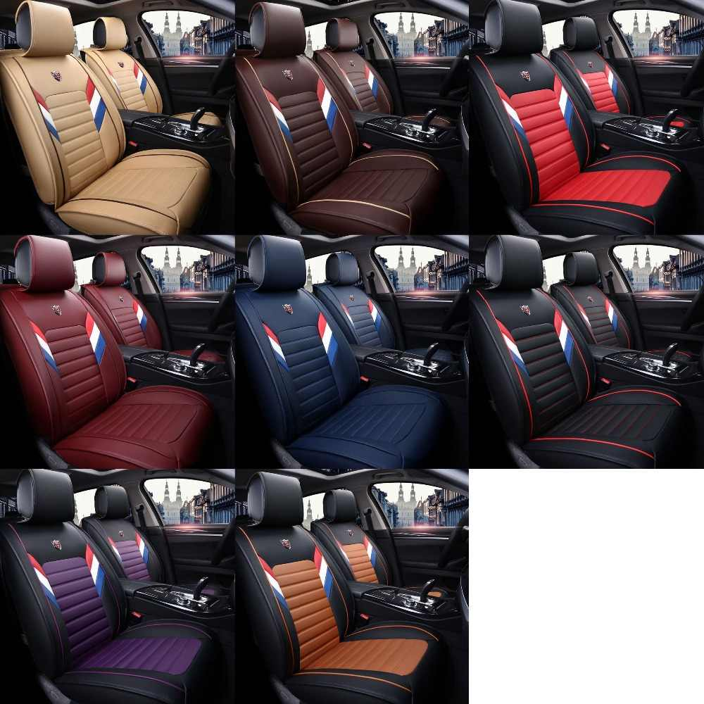 leather universal car seat cover for saab 9 3 9 5 900 9000 seat  [ 1000 x 1000 Pixel ]