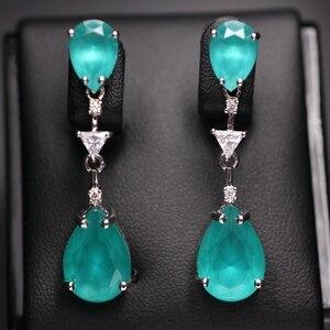 Image 1 - Water drop earrings for women Gifts AAA cubic zircona Long Pendant Dangle Earring Fashion Elegant Charm Earrings Wedding Jewelry