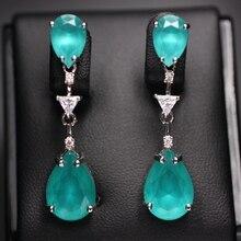 Water drop oorbellen voor vrouwen Geschenken AAA cubic zircona Lange Hanger Dangle Earring Mode Elegant Charm Oorbellen Bruiloft Sieraden