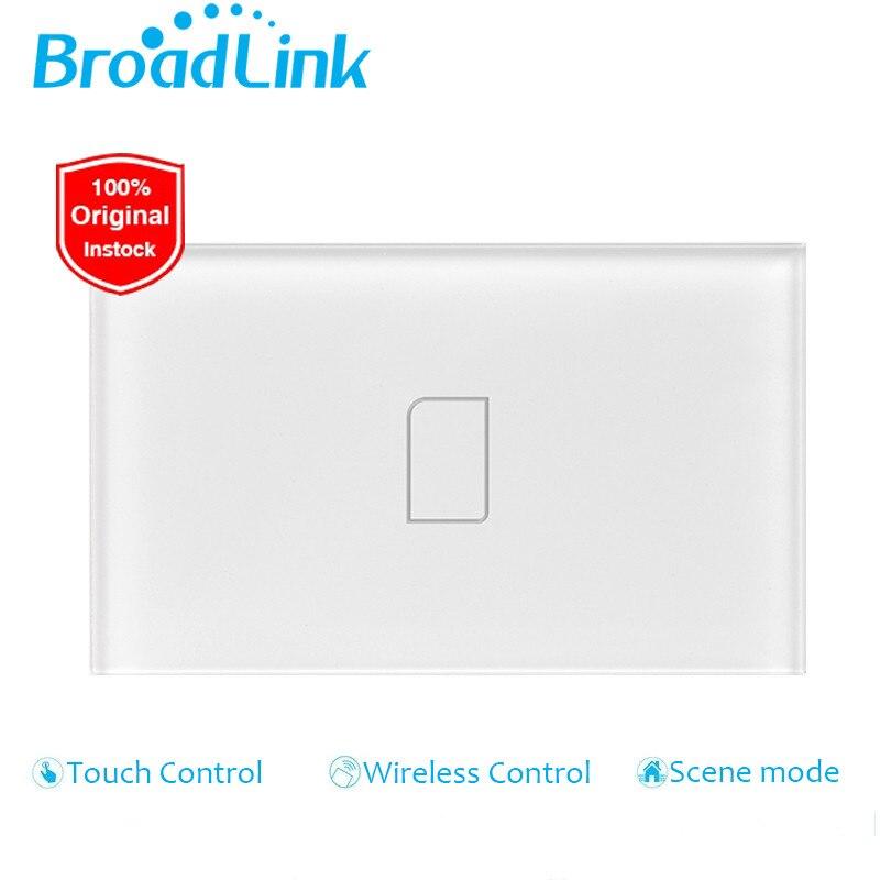 imágenes para Broadlink tc2, au ee. uu. estándar, 1 gang, domótica inteligente, aplicación móvil lámpara de control remoto inalámbrico interruptor de la luz por broadlink rmpro