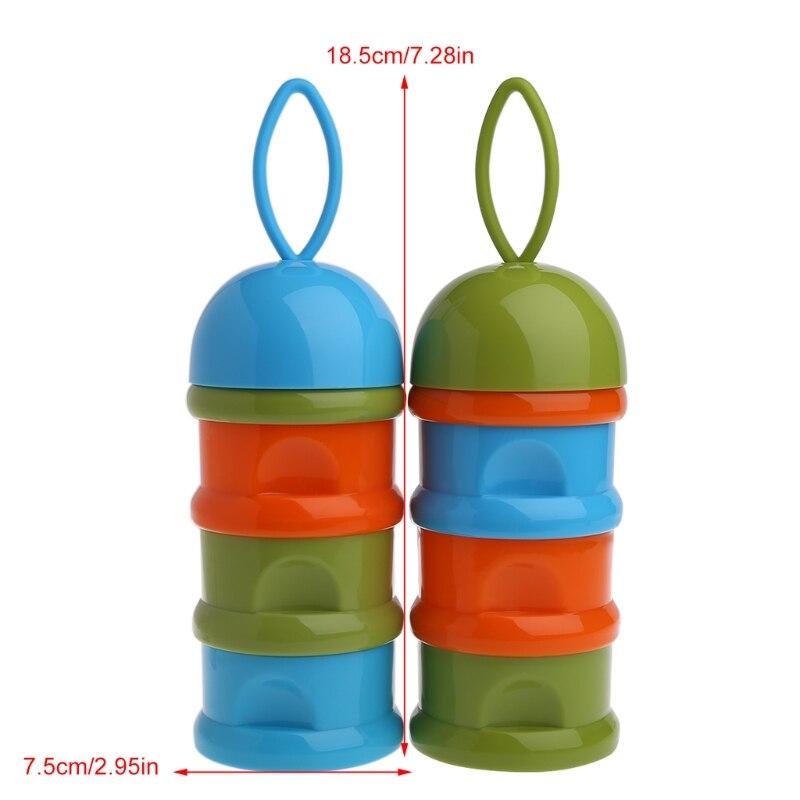 Flaschenzuführung 3 Schichten Tragbare Tier Kopf Cartoon Milch Pulver Formel Dispenser Bunte Infant Fütterung Lebensmittel Container Baby Lebensmittel Lagerung Box Aufbewahrung Von Säuglingsmilchmischungen