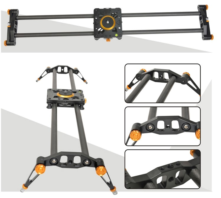 Ashanks 80cm 6 Bearings Carbon Fiber Slider DSLR Camera DV Track slide & Video Stabilizer Rail Track Slider For DSLR Camcorder
