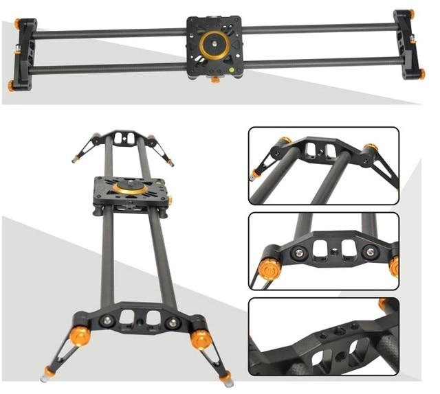 Ashanks 80cm 6 Bearings Carbon Fiber Slider DSLR Camera DV Track slide & Video Stabilizer Rail Track Slider For DSLR Camcorder