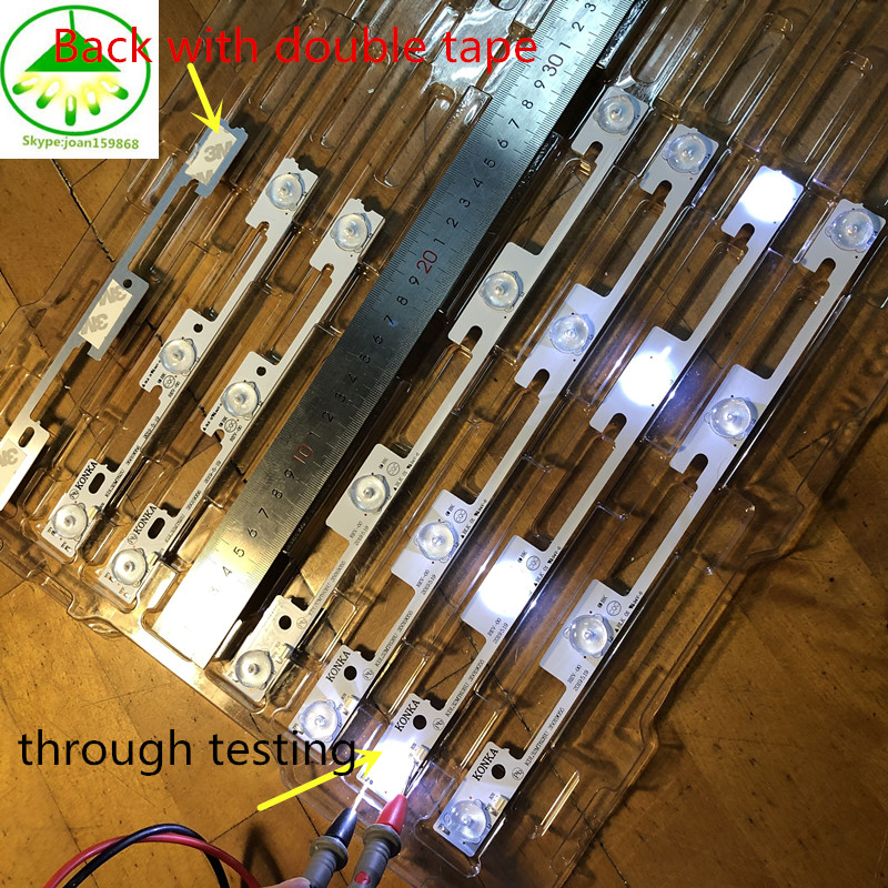 100PCS NEW  For Konka KDL32MT626U(50PCS*4LED +50PCS*3LED) 35019055 35019056 Light Bar 32 Inch Backlight Lamp LED Strip 1LED=6v