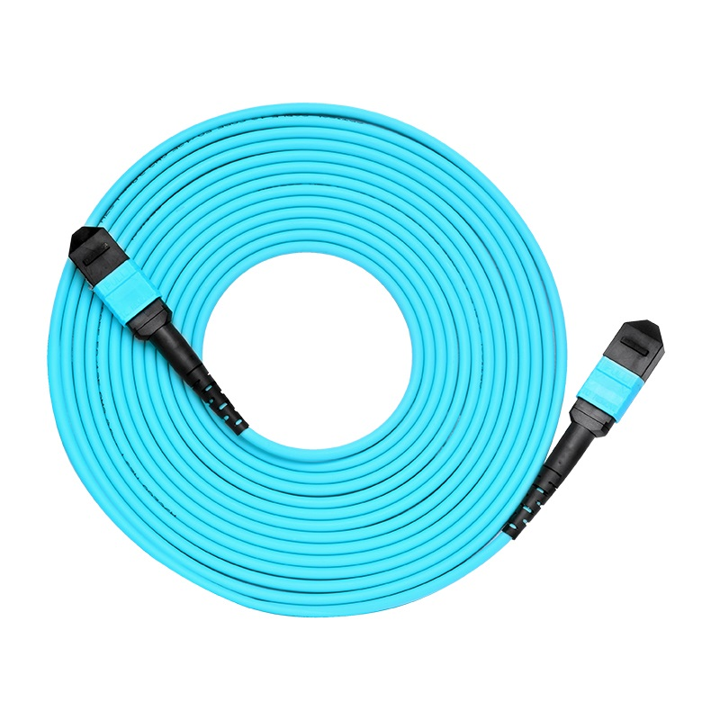 Câble optique de corde de correction de Fiber de noyau de 3 M MPO 8 10 GB 50/125 OM3 câble optique Multimode de Fiber