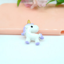 10pcs/pack Kawaii unicorn Flatback Resin Cabochon Craft For DIY Hair Clip Decoration Supplies Embellishment(China)