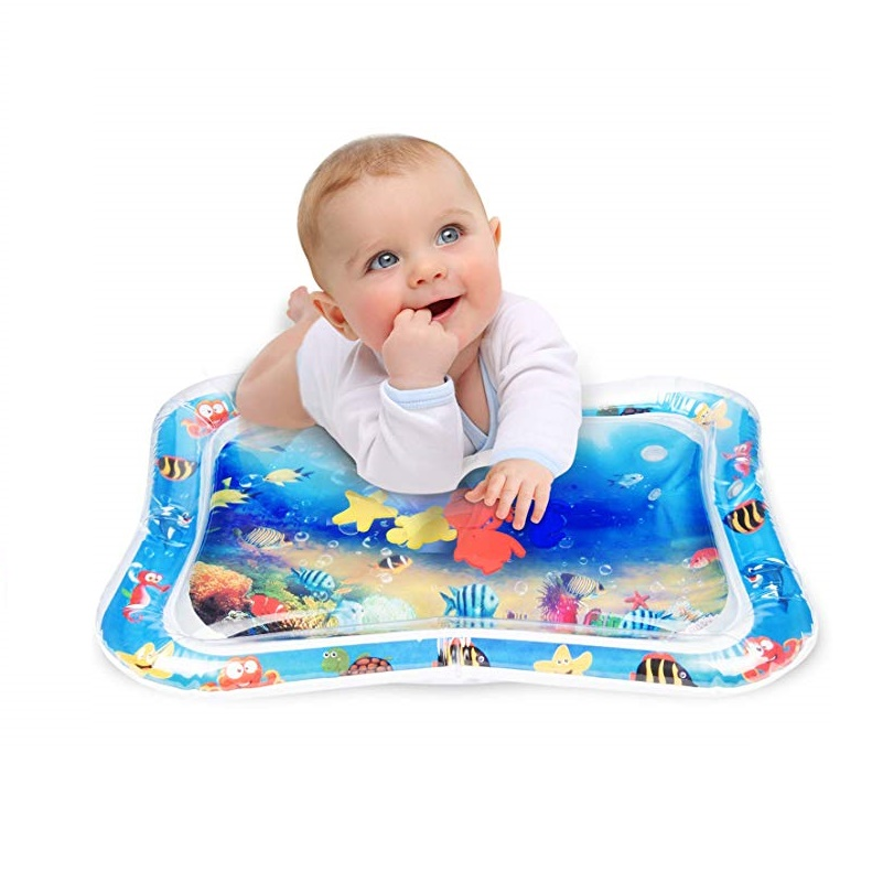 2020 Hot Sales Baby Kids Water Play Mat Inflatable Infant Tummy Time Playmat Toddler For BabyGirl Boy Fun Activity Play Center