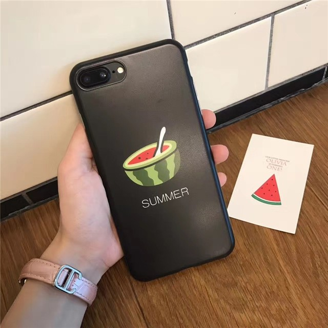 online retailer 60706 58f5f US $3.29 |Mobile Phone Case Cartoon Fresh Cool Watermelon Fruit Pattern  Soft Cases Protective Cellphone Cover Cases for iPhone 7/8 Plus on ...