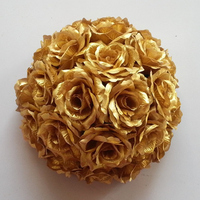 60CM Artificial Rose Ball Silk Flowers Kissing Balls Wedding Decorations Hanging Ball Christmas Party Decoration