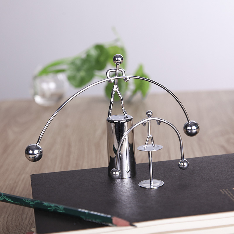 Fun Development Educational Desk Toy Newtons Cradle Steel Balance Ball Physics Science Pendulum Iron Kids Toy For Child Gift
