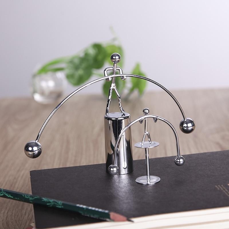 Fun Development Educational Desk Toy Newtons Cradle Steel Balance Ball Physics Science Pendulum Iron Kids Toy For Child Gift