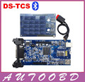 New Arrival! 100% Quality A++TCS cdp With Bluetooth Double Blue PCB TWO Board V2014.R2/2015.R1 for Auto Cars Trucks CNP Shipping