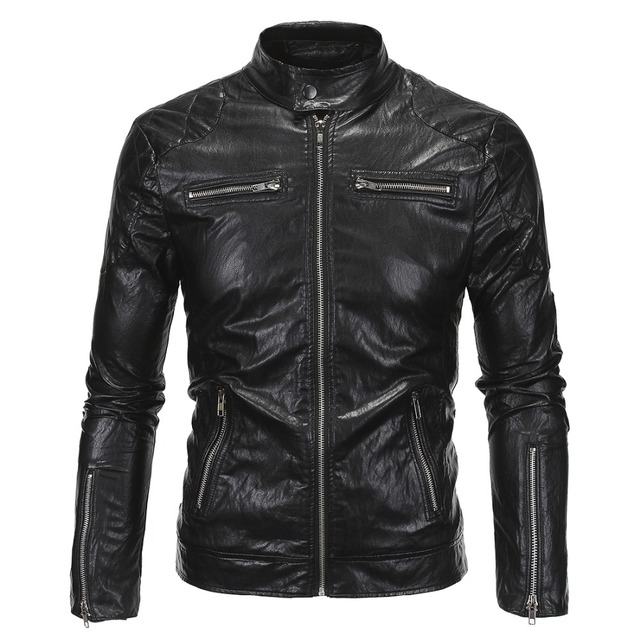 New arrive brand motorcycle leather jackets men men's leather jacket jaqueta de couro masculina mens leather jackets men coats