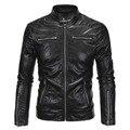Nuevo llega la marca de fábrica de cuero de la motocicleta chaquetas de los hombres chaqueta de cuero jaqueta de couro masculina para hombre chaquetas de cuero de los hombres abrigos