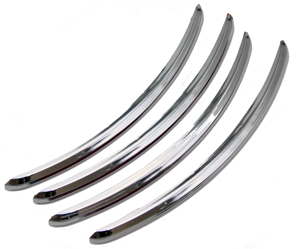 Chrome Rear Fender Accents For Harley FLHX Street Glide