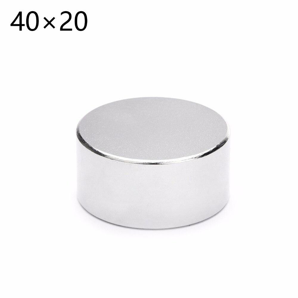 2 pcs vente chaude 40x20mm Ronde forte puissant Néodyme Aimant Permanent N35 magnétique 40*20mm
