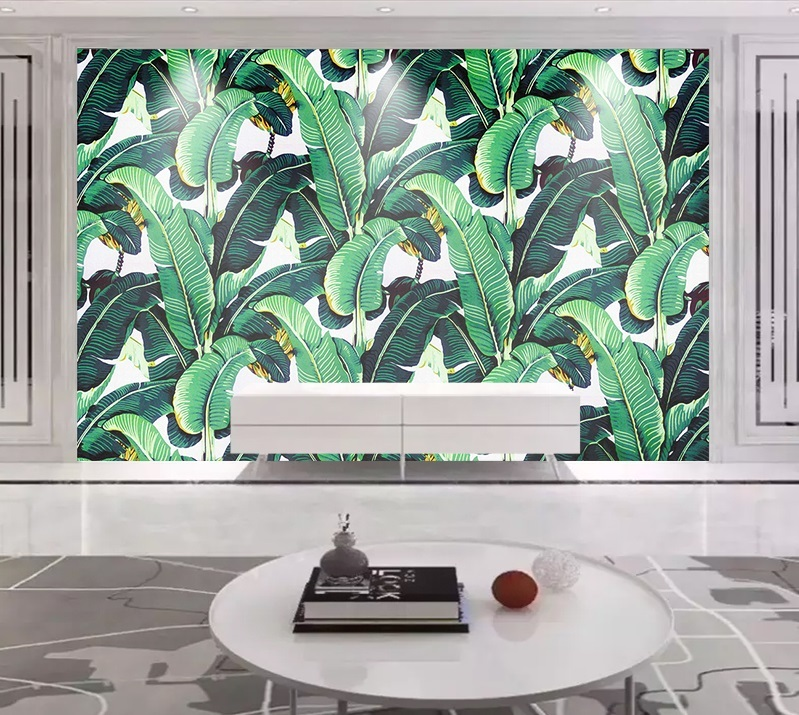 US $16 58 |Custom Wall Mural Wallpaper European Style Retro Hand Painted  Rain Forest Plant Banana Leaf Pastoral Wall Painting Wallpaper-in Wall