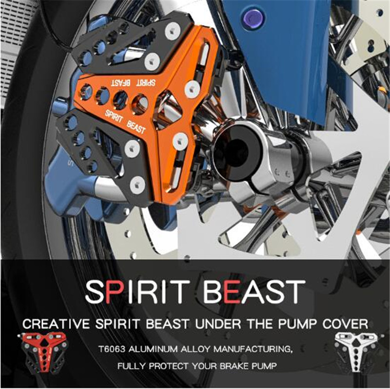 SPIRIT BEAST Modified Motor Protection Scooter Decorative Brake Pump Cover Front Disc Brake Pump Cover Motorcycles Accessories retro retrofit cg125 motorcycle modified front disc brakes disc brake pump disc brake before brake pump