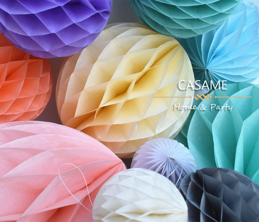 10cm 15cm 20cm 25cm 1pcs 4 6 8 Decorative Flower Paper Lantern Honeycomb Ball Wedding Kid Birthday Decoration babyshower ...