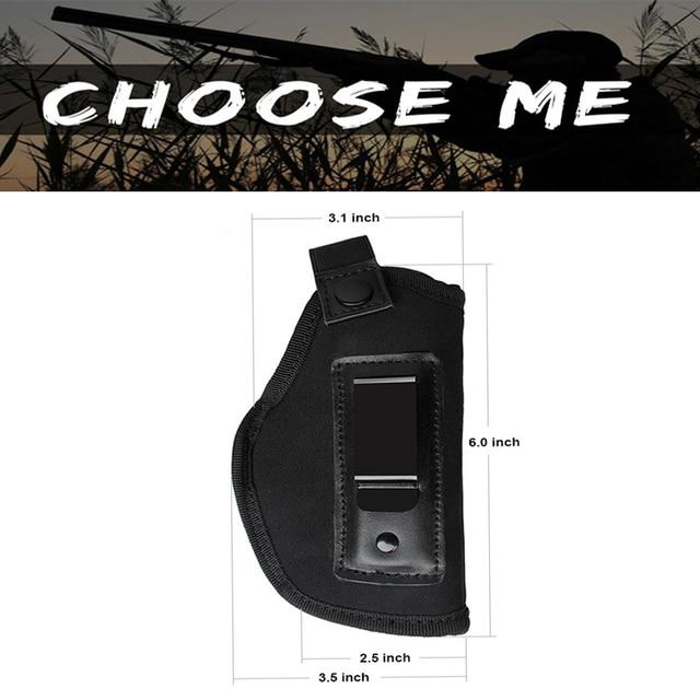 Tattica di Caccia Nylon Holster Neoprene Gun HolsterGLOCK 17 19 22 23 32 33 92 M9 pistola A Scomparsa Universale Fondine