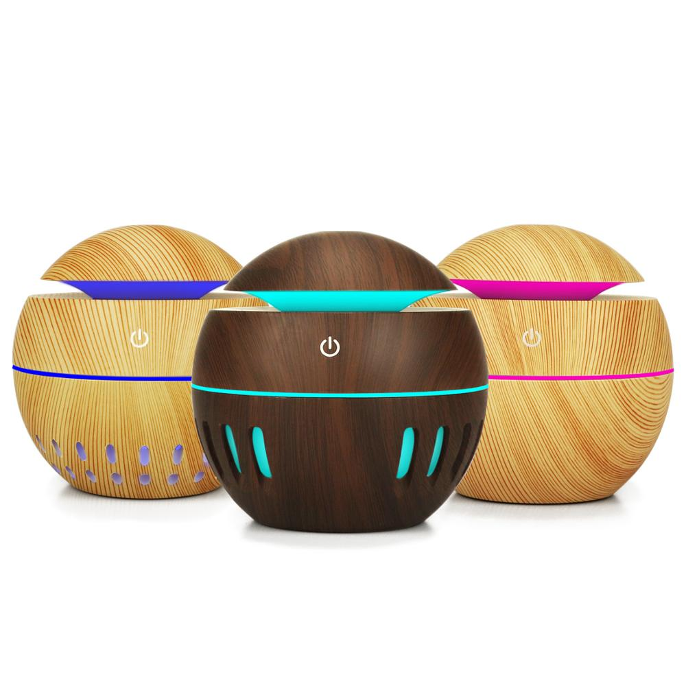 Usb Air Humidifier 130ml Mini Aroma Essential Oil Diffuser 7 Color Changing LED Lights Car Aromatherapy Machine Home Office