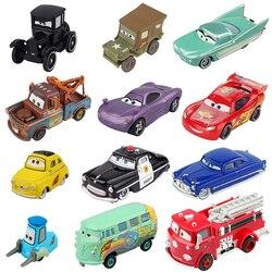 Disney Pixar Cars 1 Radiator Springs Lightning McQueen Luigi Sheriff Mater Diecast Metal Toys Model Car Birthday Gift For Kids