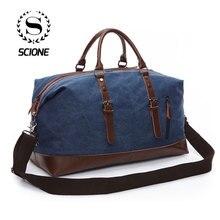 Scione Unisex Canvas Travel Shoulder Luggage Bags Large Capa