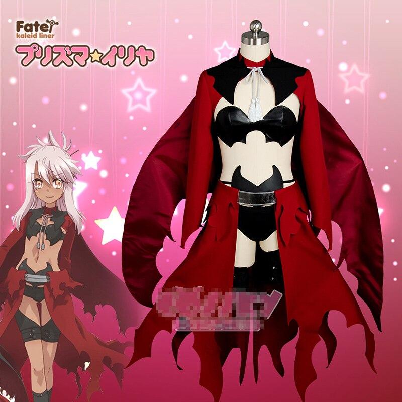 Fate/kaleid liner Chloe von Einzbern  Uniforms Cosplay Costume Free Shipping