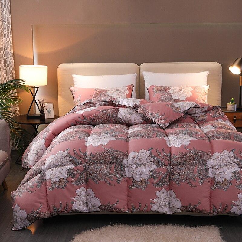 Flowers Bloom Pattern Duvet Twin Full Queen Quilt Reversible Ultra Soft Insert Filler 1Pc Comforter for