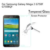 For Samsung Galaxy Mega 2 G750F G7508Q Tempered Glass Screen Protector Film Screen Protective Film 9H 2.5D with retail box