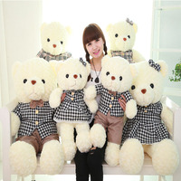 Soft lovely Teddy Bear Doll Dressed lovers bear Stuffed Plush toy Gift for kids
