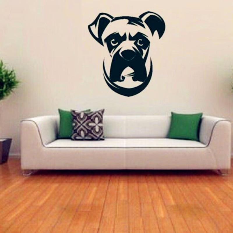 boxer dog wall decal vinyl sticker cute dogs wallpaper kids wall